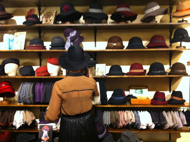 Sarah? and the wall of women's hats