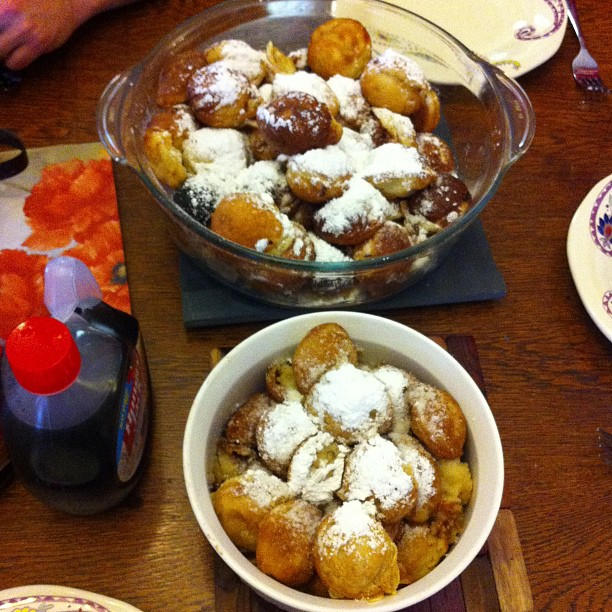 We then ate Aebleskivers! It's a Christmas day tradition..even though this wasn't exactly Christmas day. They're basically pancake balls, for those who have never had them.