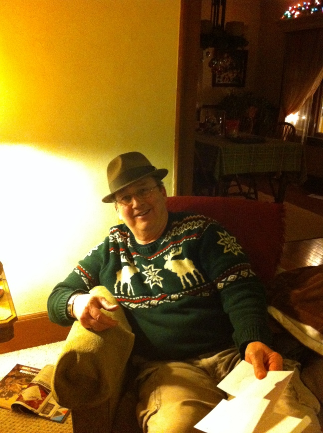 Look at that! My dad with the Goorin Hat I bought him. Yes, he's the lucky guy who I bought a hat for from my previous post.