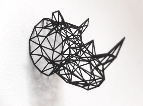wire rhino head