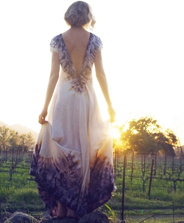 flowy dress, sunset, care free