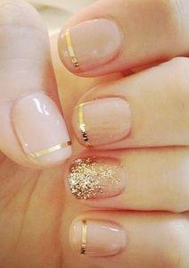 gold glitter finger nail polish