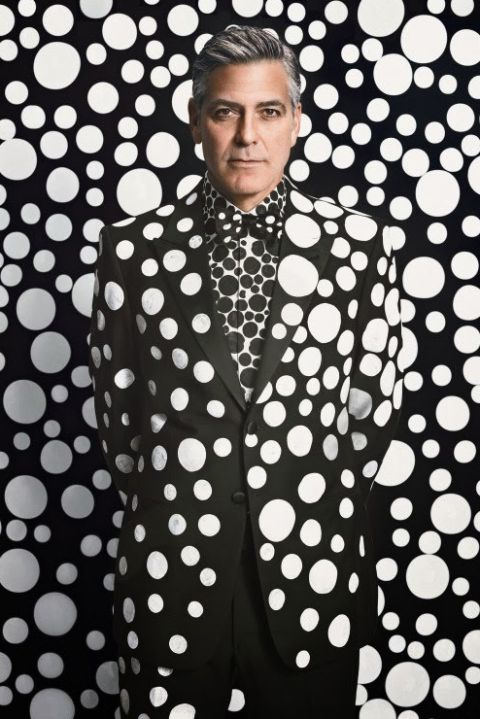 George Clooney in a suit covered in polka dots. Brilliant! I don't think I need to say more.